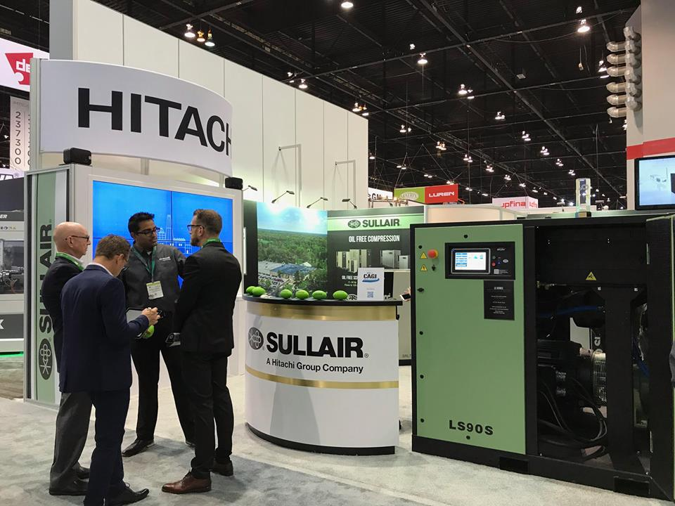 Sullair booth at IMTS 2018