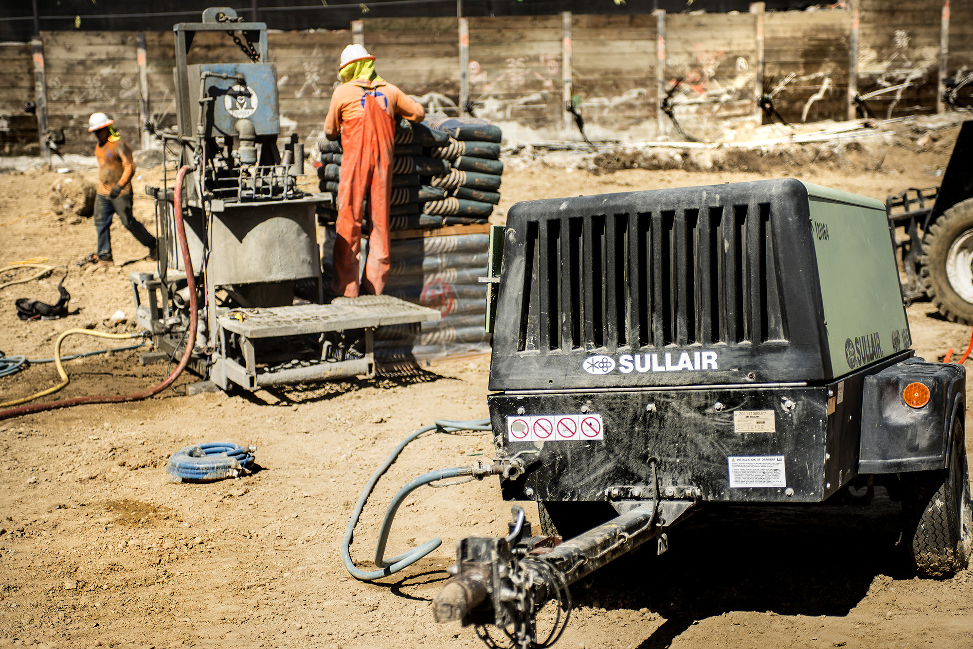 Sullair portable diesel air compressors are designed for rental flexibility