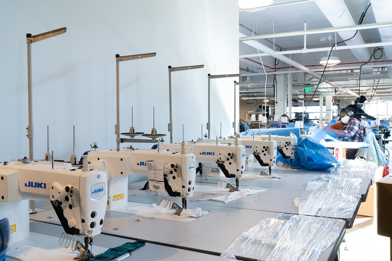 Sewing machines installed at ISAIC